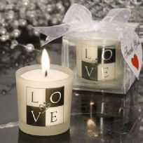 Black And White Love Candle Favour
